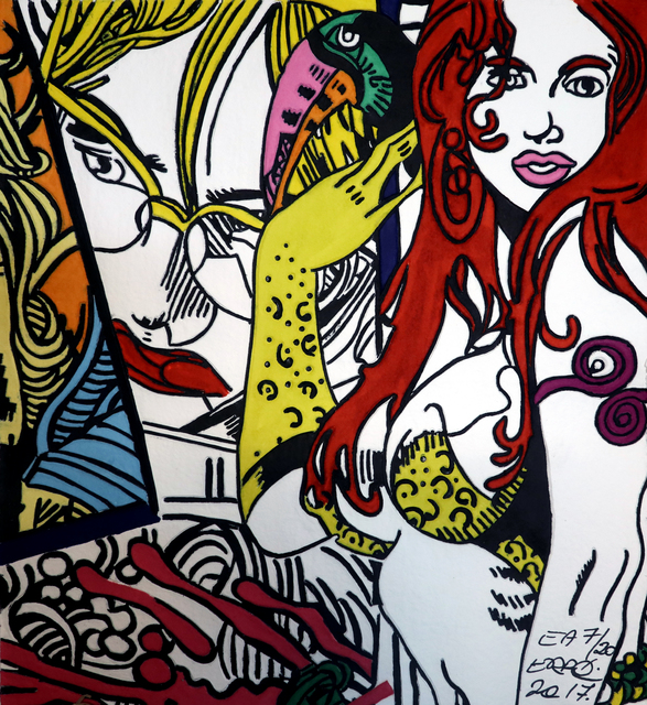 , 'Femme au Toucan,' 2017, Galerie Christiane Vallé
