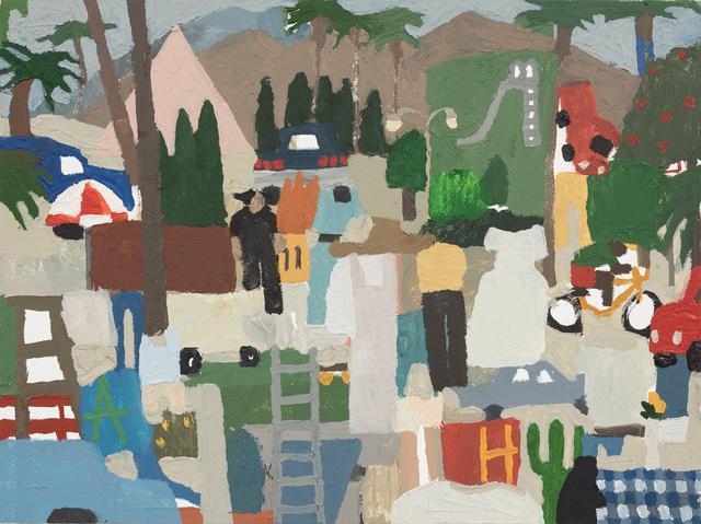 , 'Cypress, Cactus, Ladder, Fire,' 2018, Steve Turner
