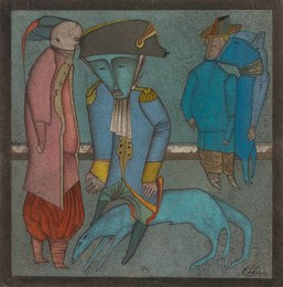 Untitled (Figures and Dog)