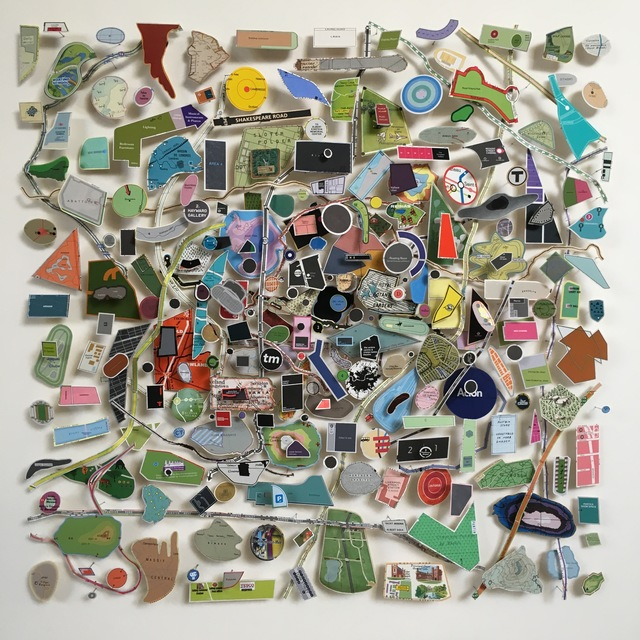 , 'Construction with Found Map Pieces,' , After Nyne Gallery