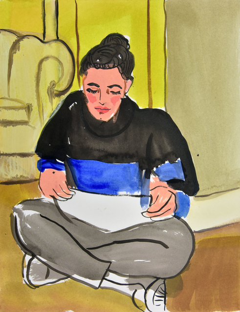 , 'Hayley Silverman Painting,' 2014, Galerie Kornfeld