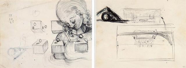 Salvador Dalí, 'Étude de tête de femme et étude pour le tableau : La Cène', ca. 1954, HELENE BAILLY GALLERY