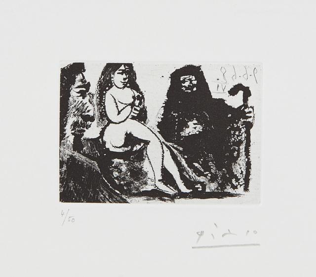 Pablo Picasso, 'Visiteur au nez bourbonien chez la Célestine (Visitor with a Bourbon Nose at Célestine's), plate 151 from 347 Series', 1968, Phillips