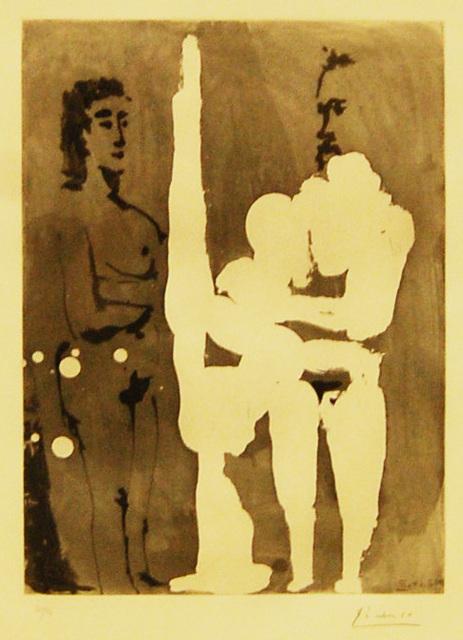 Pablo Picasso, 'Peintre Debout a son Chevalet, avec un Modele', 1965, Baterbys