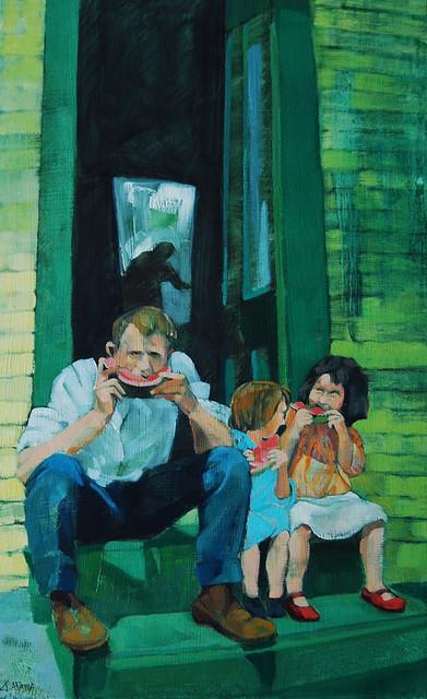 , 'Back Steps,' 2015, Bowersock Gallery