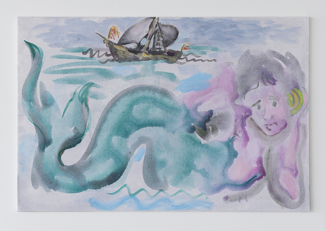 , 'Mermaid and Ship,' 2017, Reyes Projects