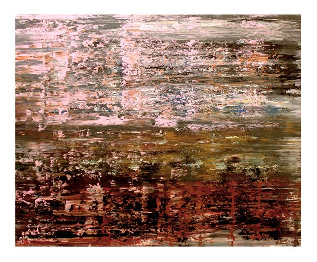 Bashir Qonqar, 'Pink and Brown', 2017, Painting, Acrylic on Canvas, Bab idDeir Art Gallery