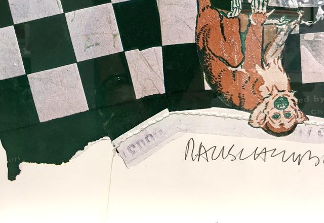 Robert Rauschenberg, 'Chow Bags - Monkey Chow', 1977, Print, Screenprint with collage of string, Gregg Shienbaum Fine Art