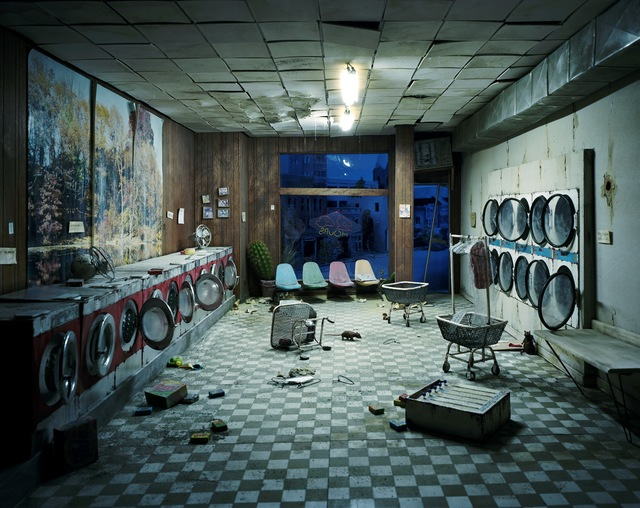 , 'Laundromat at Night,' 2008, Galerie Klüser