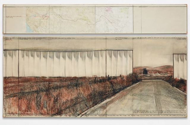 Christo and Jeanne-Claude, 'Running Fence (Project for Sonoma County and Marin County,  State of California)', 1976, Repetto Gallery