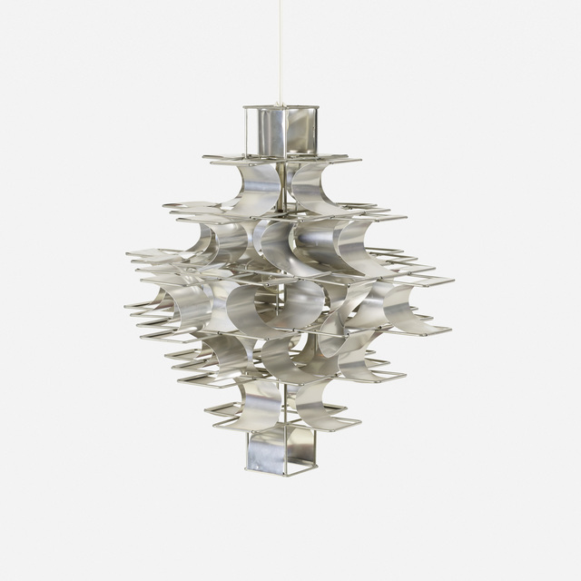 Max Sauze, 'chandelier', c. 1970, Design/Decorative Art, Aluminum, zinc-plated steel, Rago/Wright