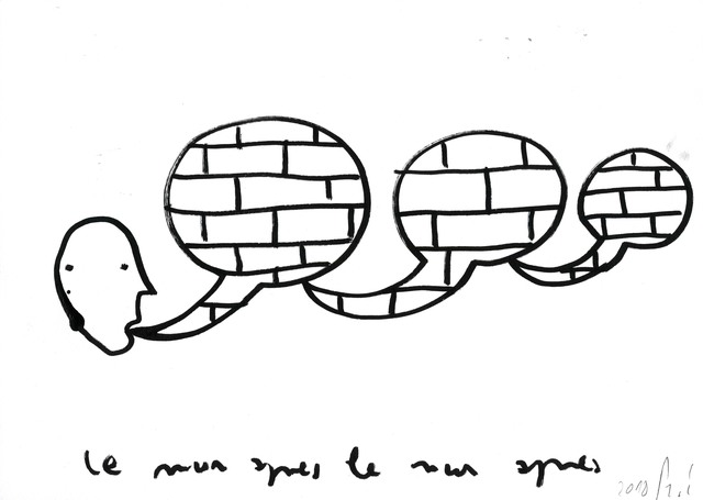 , 'Le mur après le mur après le mur #J,' 2018, Michel Rein Paris/Brussels