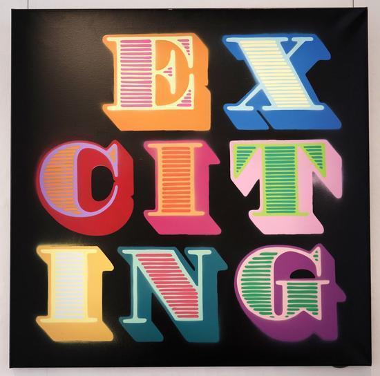 Ben Eine, 'Exciting', 2017, Jewel Goodby Contemporary