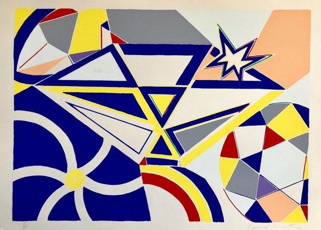 Knox Martin, 'Pop Art Abstract Lithograph Silkscreen Abstract Geometric ', 1970-1979, Lions Gallery