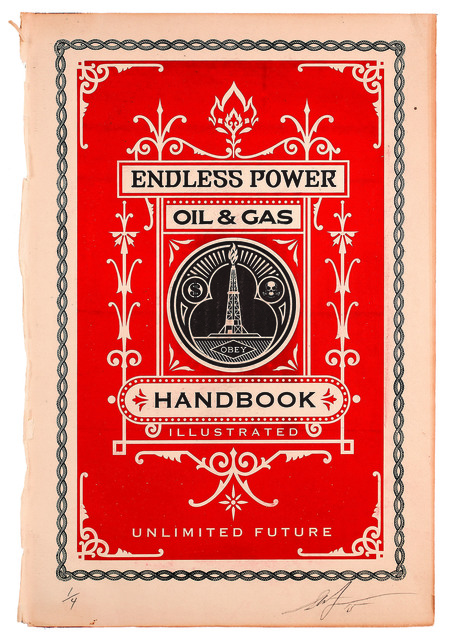 Shepard Fairey, 'Oil and Gas Handbook Page', 2015, Underdogs Gallery