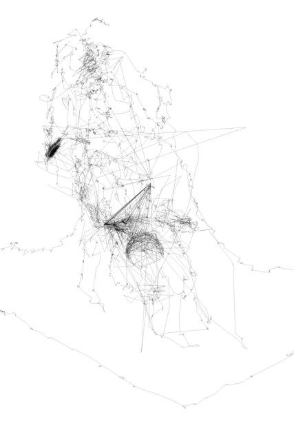 , '7 eye drawings describing a figure,' 2018, Galleria Michela Rizzo