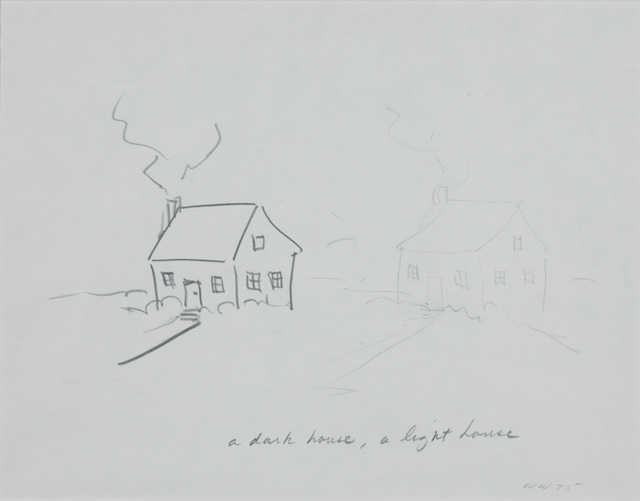, 'House with Thin Door/Dark House, Light House,' 1975, The Metropolitan Museum of Art