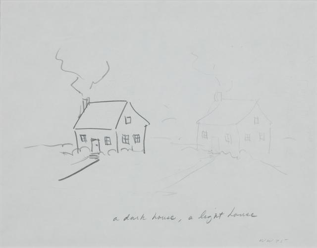 , 'House with Thin Door/Dark House, Light House,' 1975, The Metropolitan Museum of Art