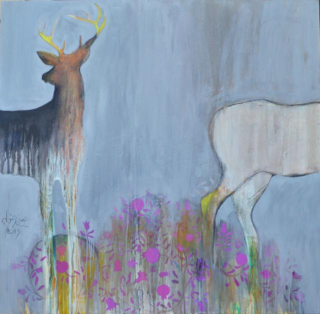 Hosni Radwan, 'Al Sham Rose #1', 2015, Painting, Acrylic on canvas, Zawyeh Gallery