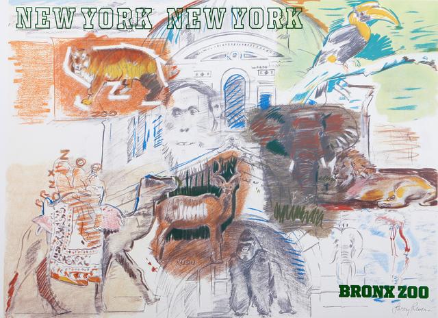 Larry Rivers, 'Bronx Zoo', 1983, Ephemera or Merchandise, Offset Lithograph, RoGallery