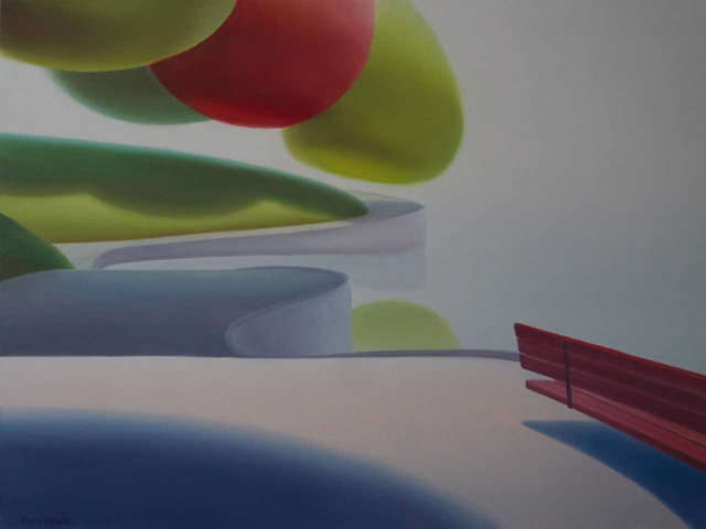 , 'Red bench,' 2018, Ian Tan Gallery