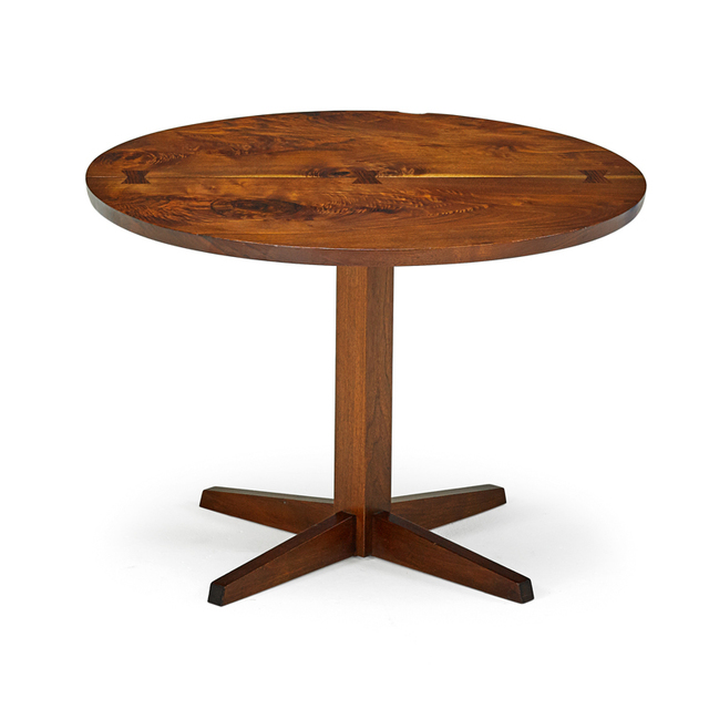 George Nakashima, 'Pedestal Occasional Table, New Hope, PA', 1964, Rago/Wright