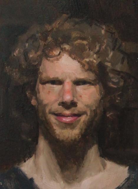 Ewan McClure, 'Swedish self', 2018, Painting, Oil on board, Castlegate House Gallery