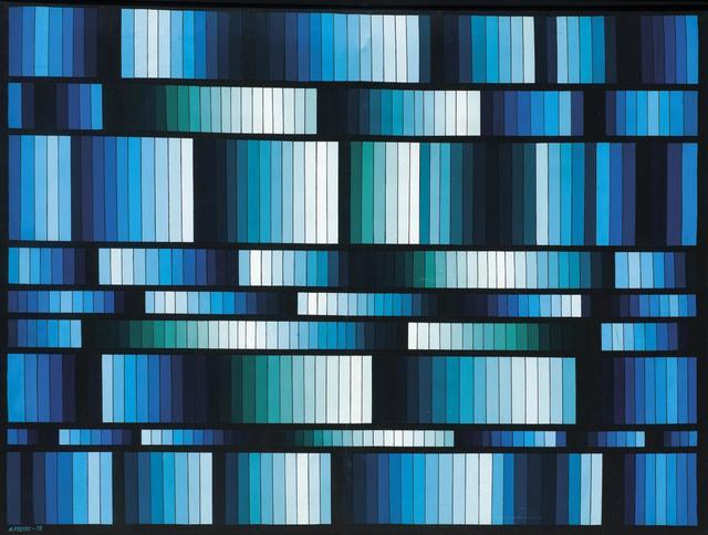 , 'Vibrante azul,' 1978, Galería de las Misiones
