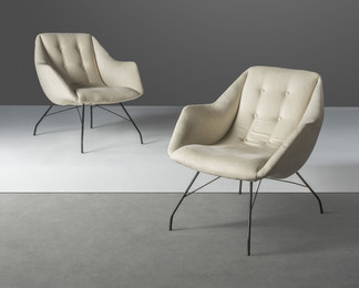 A pair of 'Shell' lounge chairs