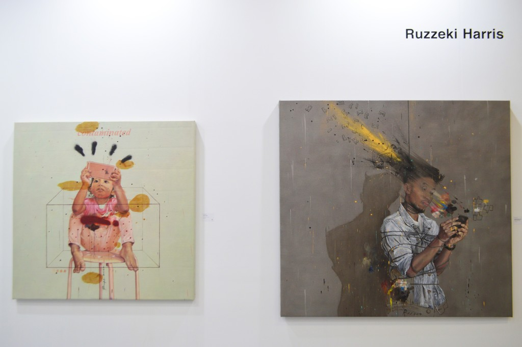 "Ruzzeki Harris, Art Taipei 2016: ""Contaminated"" (left) and ""My Soul Needs Likes"" (right) 