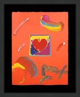 Peter Max, HEART (OVERPAINT)