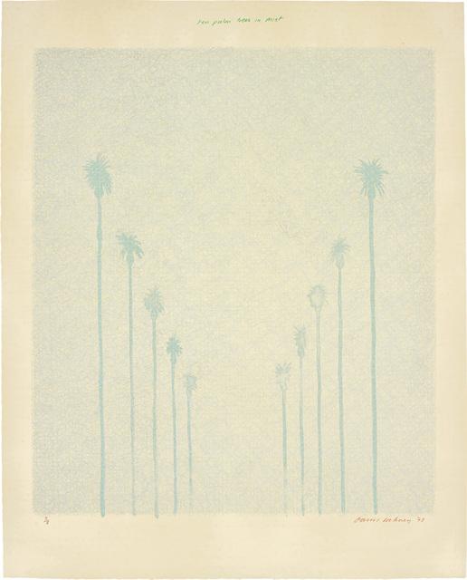 David Hockney, 'Ten Palm Trees in the Mist', 1973, Phillips
