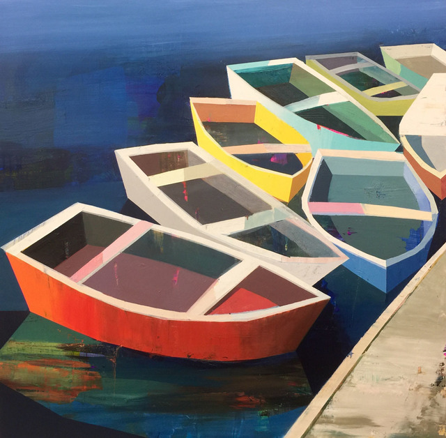 , 'Colorful Boats in the Bay,' 2017, Sue Greenwood Fine Art