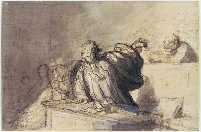 Honoré Daumier, 'Plea for the Defense', Early 1860s, Phillips Collection