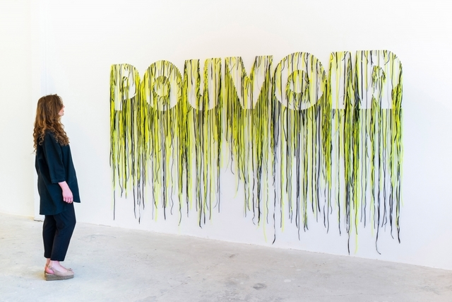 Nari Ward, 'Pouvoir', 2019, Installation, Shoes laces, GALLERIA CONTINUA