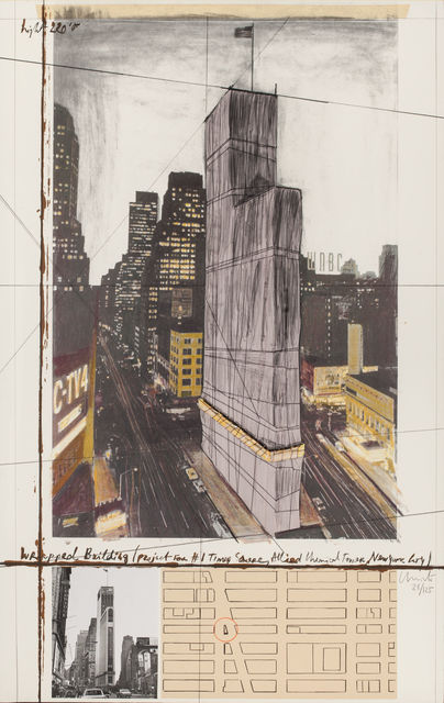 , 'Wrapped Building (Project for #1 Times Square, Allied Chemical Tower, New York City),' 1991, MILL Contemporary