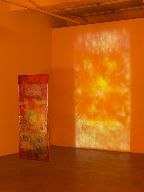 Jibade-Khalil Huffman, 'Untitled (Explosion)', 2020, Sculpture, Inkjet on transparencies, looping video, Magenta Plains