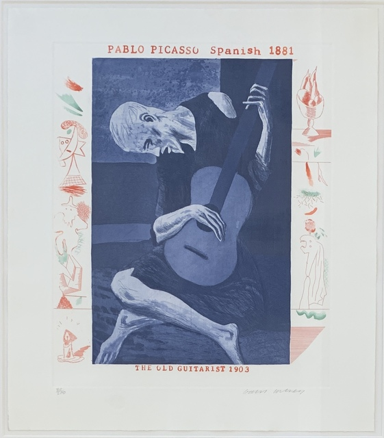 David Hockney, 'The Old Guitarist, from The Blue Guitar', 1976-1977, Kwiat Art