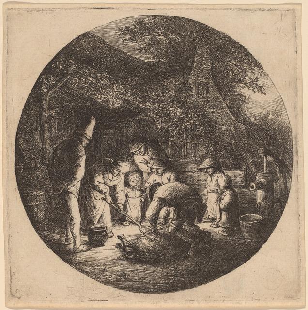 Adriaen van Ostade, 'Pig Slaughterers', probably 1642, National Gallery of Art, Washington, D.C.