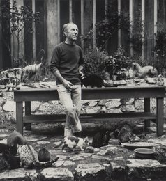 Edward Weston, Photographer, with his Cats