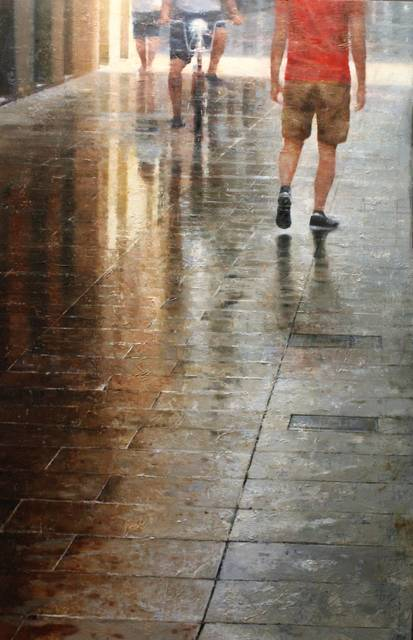 , 'Wet street,' 2018, Anquins Galeria