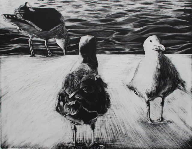 , 'Three Seagulls,' 2017, Seager Gray Gallery