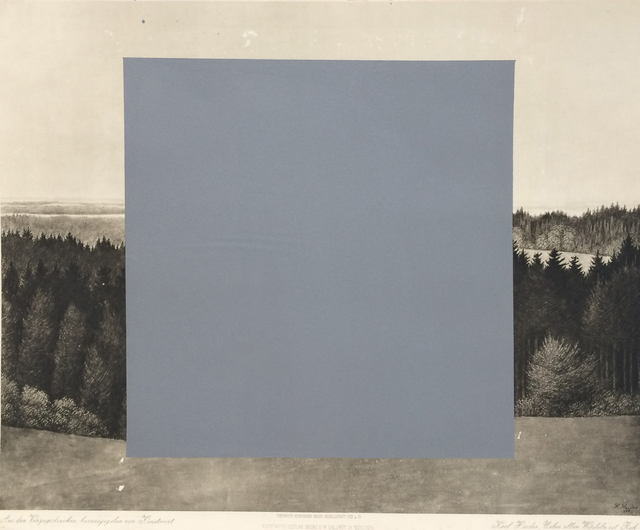 Nicolas Vionnet, 'Ueber allen Wipfeln ist Ruh #1', 2016, Painting, Silver micaceous iron on art print (artist: Karl Haider), BBA Gallery