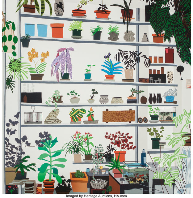 After Jonas Wood, 'Large Shelf Still Life, poster', 2017, Heritage Auctions