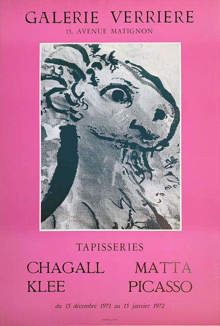 Marc Chagall, 'Chagall, Klee, Matta, Picasso, Galerie Verriere', 1972, David Lawrence Gallery
