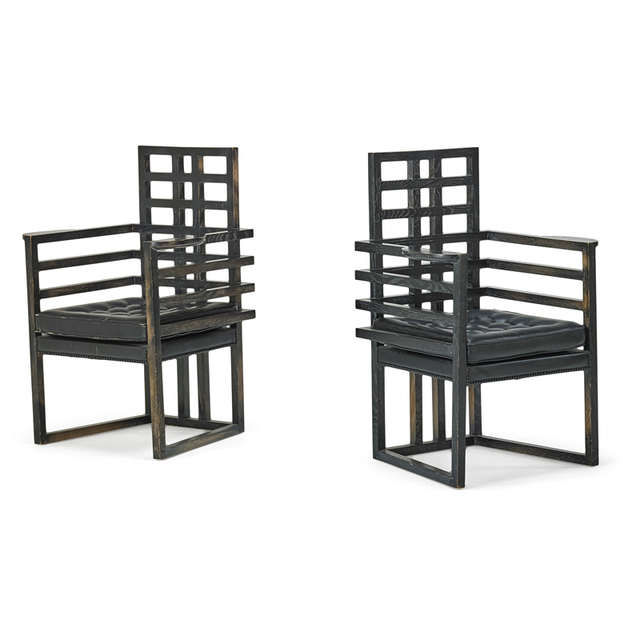 Stanley Tigerman, 'Pair Of Armchairs, Chicago, IL', 1980s, Rago/Wright