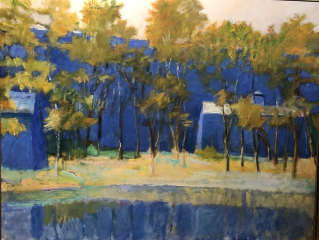 , 'Two Farm Buildings and a Pond,' 1989, Eckert Fine Art