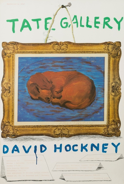 David Hockney, 'A poster for David Hockney: A Retrospective', 1987, Forum Auctions