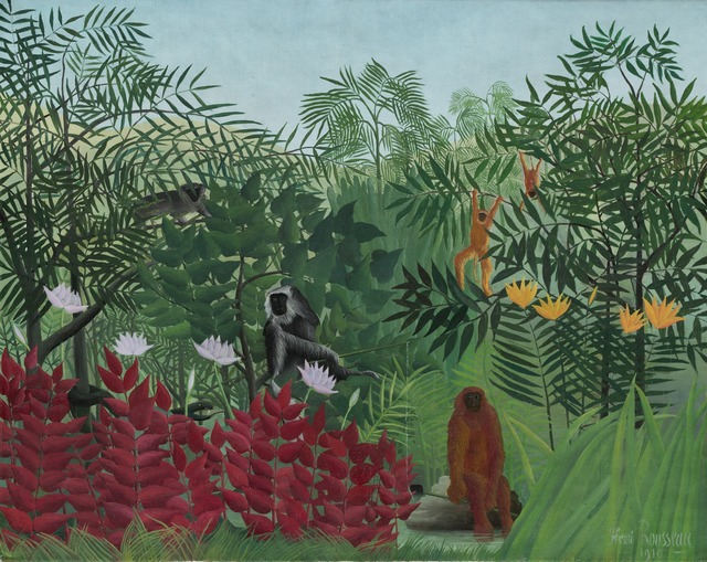 Henri Rousseau, 'Tropical Forest with Monkeys', 1910, National Gallery of Art, Washington, D.C.