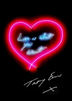 Tracey Emin, Love is What You Want (new in Emin International tube)